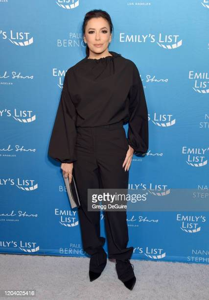 Eva Longoria attends EMILY's List 3rd Annual PreOscars Event at Four Seasons Hotel Los Angeles at Beverly Hills on February 04 2020 in Los Angeles...