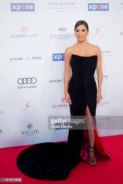 Eva Longoria attends Global Gift Gala Marbella 2019 at Hotel Gran Melia Don Pepe on July 12 2019 in Marbella Spain