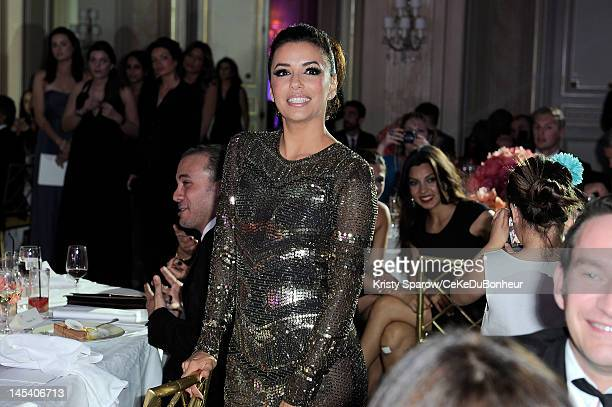 Eva Longoria attends her foundations fundraiser, 'Global Gift Gala' hosted by jewel designer Sheeva at the Hotel George V on May 28, 2012 in Paris,...