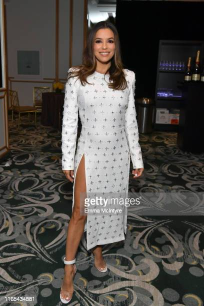 Eva Longoria attends Hollywood Foreign Press Association's Annual Grants Banquet at Regent Beverly Wilshire Hotel on July 31 2019 in Beverly Hills...