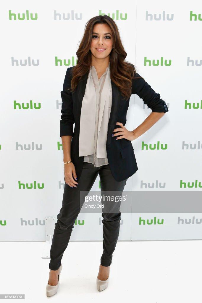 Eva Longoria attends Hulu NY Press Junket on April 30, 2013 in New York City.