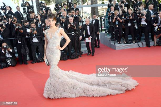 Eva Longoria attends opening ceremony and 'Moonrise Kingdom' premiere during the 65th Annual Cannes Film Festival at Palais des Festivals on May 16...