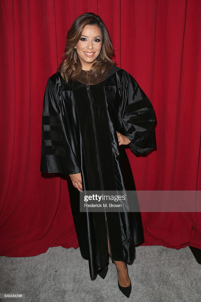 Eva Longoria attends the 2016 AFI Conservatory commencement ceremony at TCL Chinese Theatre on June 15, 2016 in Hollywood, California. The American Film Institute is granting honorary degrees to Rita Moreno and Quentin Tarantino for their contributions to the cinematic arts.