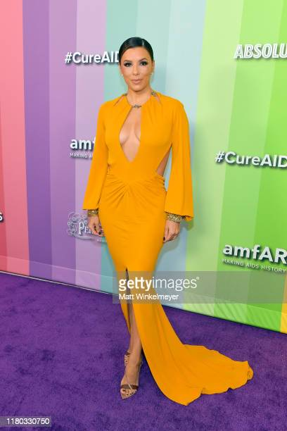 Eva Longoria attends the 2019 amfAR Gala Los Angeles at Milk Studios on October 10, 2019 in Los Angeles, California.