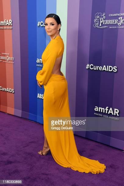 Eva Longoria attends the 2019 amfAR Gala Los Angeles at Milk Studios on October 10, 2019 in Los Angeles, California.