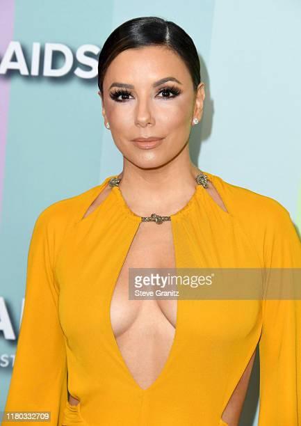 Eva Longoria attends the 2019 amfAR Gala Los Angeles at Milk Studios on October 10 2019 in Los Angeles California