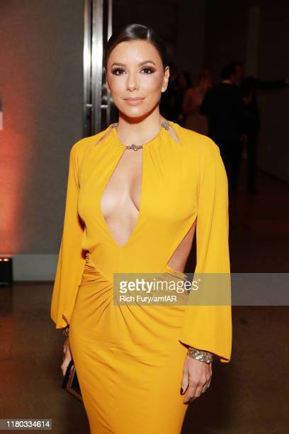 Eva Longoria attends the 2019 amfAR Gala Los Angeles at Milk Studios on October 10 2019 in Los Angeles California