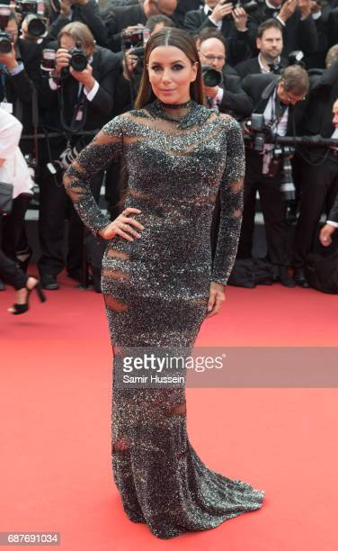 Eva Longoria attends the 70th Anniversary screening during the 70th annual Cannes Film Festival at Palais des Festivals on May 23 2017 in Cannes...