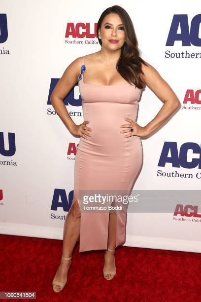 Eva Longoria attends the ACLU's Annual Bill Of Rights Dinner at the Beverly Wilshire Four Seasons Hotel on November 11 2018 in Beverly Hills...