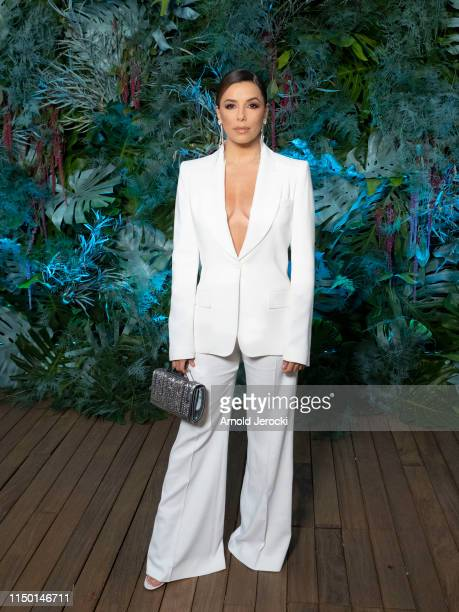 Eva Longoria attends the Alberta Ferretti Cruise 2020 Collection At Monaco Yacht Club on May 18 2019 in MonteCarlo Monaco