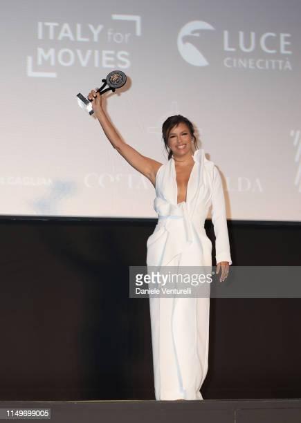 Eva Longoria attends the Filming Italy Sardegna Festival 2019 Day 1 at Forte Village Resort on June 13 2019 in Cagliari Italy