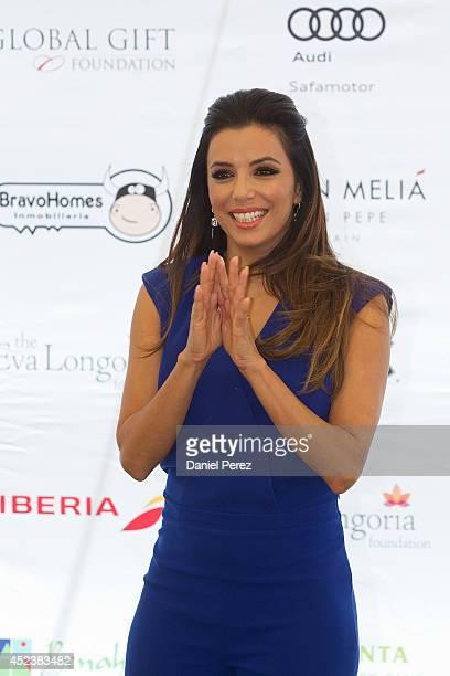 Eva Longoria attends the Global Gift Celebrity Golf Tournament to help raise money for The Eva Longoria Foundation and The Bertin Osborne Foundation...