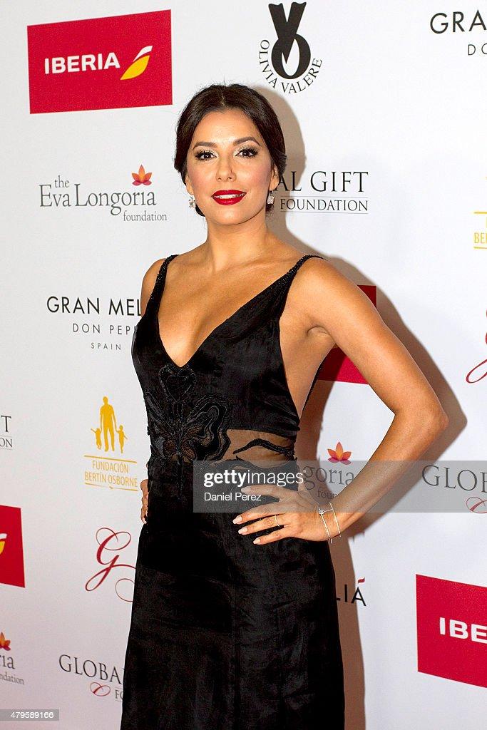 Eva Longoria attends the Global Gift Gala 2015 red carpet at Gran Melia Don pepe Resort on July 5, 2015 in Marbella, Spain.
