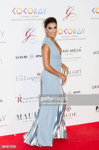Eva Longoria attends the Global Gift Gala 2017 at the Royal Teather on April 4, 2017 in Madrid, Spain.