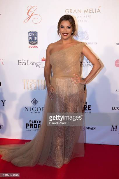 Eva Longoria attends the Global Gift Gala 2017 red carpet at Gran Melia Don pepe Resort on July 16 2017 in Marbella Spain
