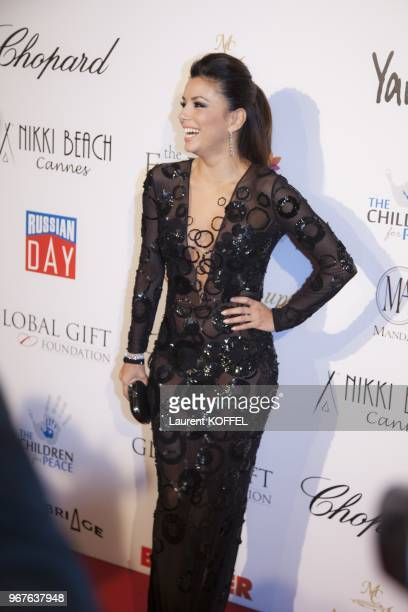 Eva Longoria attends the 'Global Gift Gala' at Carlton Hotel on May 19, 2013 in Cannes, France.