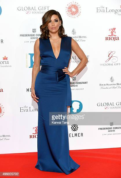 Eva Longoria attends The Global Gift Gala at Four Seasons Hotel on November 30 2015 in London England