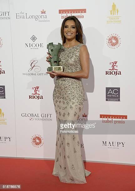 Eva Longoria attends the Global Gift Gala at the Palacio de Cibeles on April 2, 2016 in Madrid, Spain.