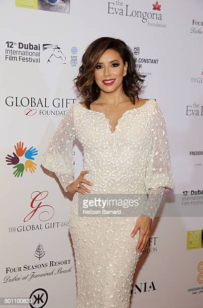 Eva Longoria attends the Global Gift Gala during day four of the 12th annual Dubai International Film Festival held at the Four Seasons Hotel on...
