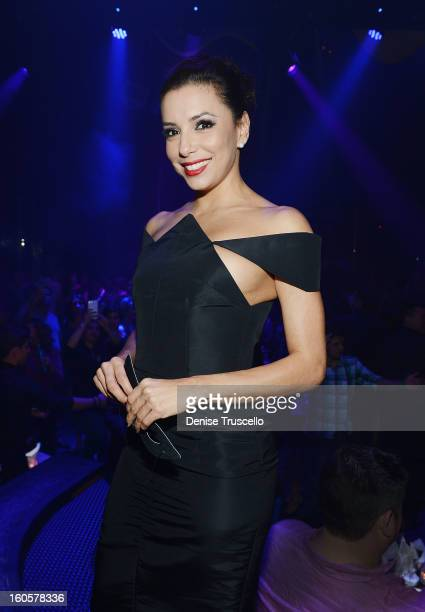 Eva Longoria attends the grand opening of SHe by Morton's at Crystals at CityCenter on February 2 2013 in Las Vegas Nevada