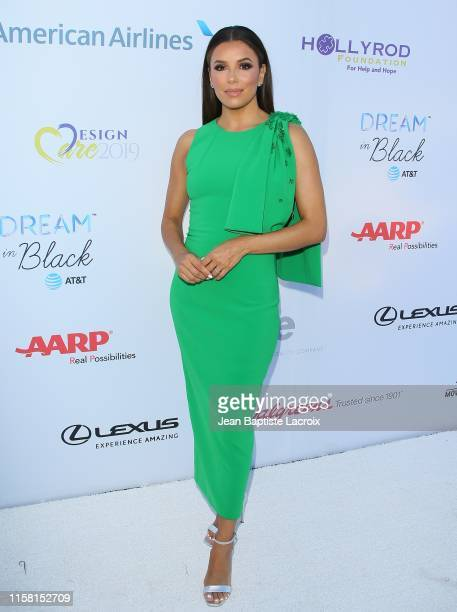 Eva Longoria attends the HollyRod Foundation's 21st Annual DesignCare Gala on July 27 2019 in Malibu California
