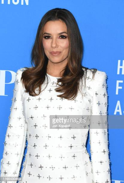 Eva Longoria attends the Hollywood Foreign Press Association's Annual Grants Banquet at Regent Beverly Wilshire Hotel on July 31, 2019 in Beverly...