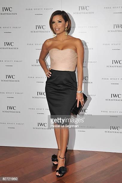 Eva Longoria attends the IWC Schaffhausen Party at the Park Hyatt Paris Vendome on September 08 2008 in Paris France
