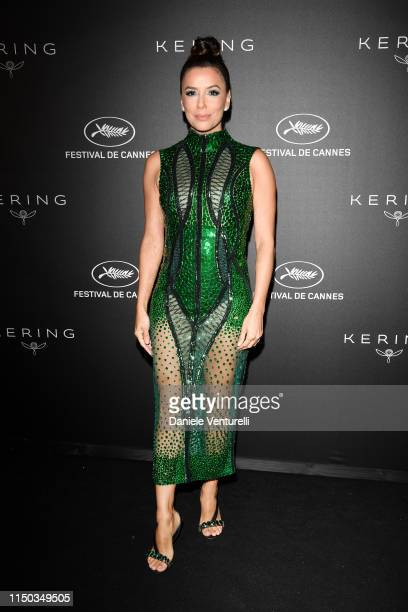 Eva Longoria attends the Kering and Cannes Film Festival Official Dinner at Place de la Castre on May 19, 2019 in Cannes, France.