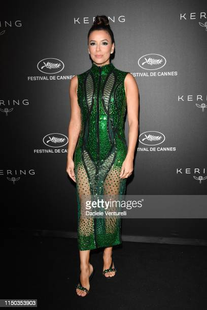 Eva Longoria attends the Kering and Cannes Film Festival Official Dinner at Place de la Castre on May 19 2019 in Cannes France