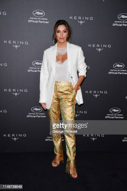 Eva Longoria attends the Kering Women in Motion Talk with Eva Longoria Photocall during the 72nd annual Cannes Film Festival on May 16, 2019 in...