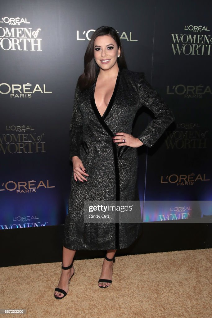 Eva Longoria attends the L'Oreal Paris Women of Worth Celebration 2017 on December 6, 2017 in New York City.