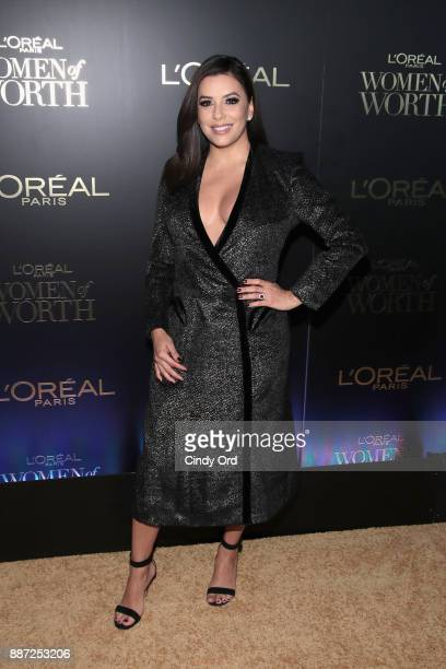 Eva Longoria attends the L'Oreal Paris Women of Worth Celebration 2017 on December 6 2017 in New York City