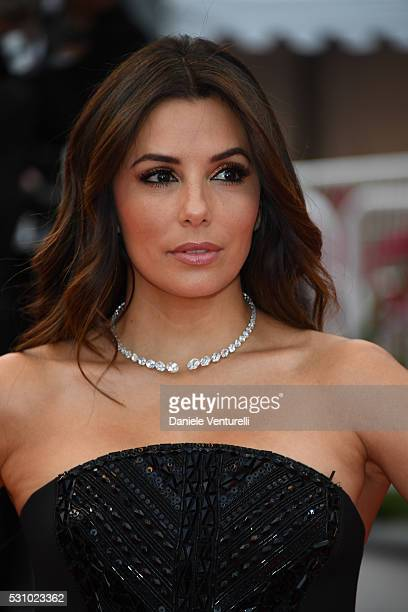 Eva Longoria attends the 'Money Monster' premiere during the 69th annual Cannes Film Festival at the Palais des Festivals on May 12 2016 in Cannes