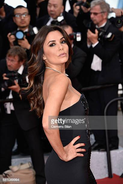 Eva Longoria attends the Money Monster premiere during the 69th annual Cannes Film Festival at the Palais des Festivals on May 12 2016 in Cannes...