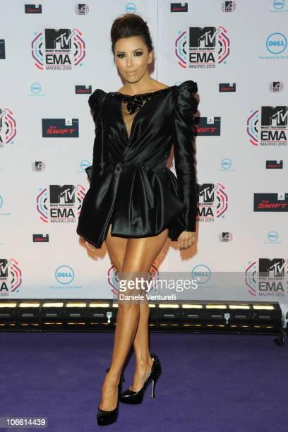 Eva Longoria attends the MTV Europe Music Awards 2010 at La Caja Magica on November 7, 2010 in Madrid, Spain.