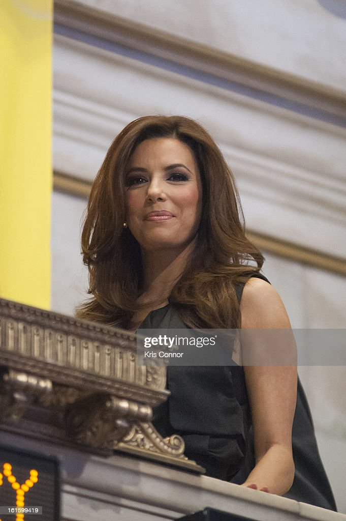Eva Longoria attends the NYSE Celebrates Lay's 'Do Us a Flavor' Contest Finalists during the opening bell at New York Stock Exchange on February 12, 2013 in New York City.