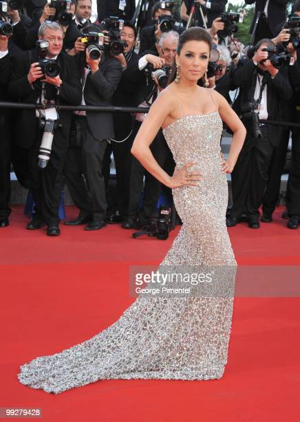 Eva Longoria attends the 'On Tour ' premiere at the Palais des Festivals during the 63rd International Cannes Film Festival on May 13 2010 in Cannes...