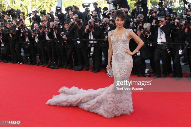 Eva Longoria attends the Opening Ceremony and 'Moonrise Kingdom' Premiere during the 65th Annual Cannes Film Festival at the Palais des Festivals on...