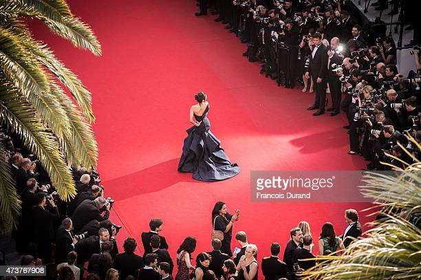 Eva Longoria attends the Premiere of Carol during the 68th annual Cannes Film Festival on May 17 2015 in Cannes France