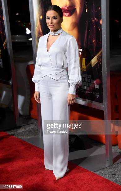 Eva Longoria attends the Premiere Of Columbia Pictures' Miss Bala at Regal LA Live Stadium 14 on January 30 2019 in Los Angeles California