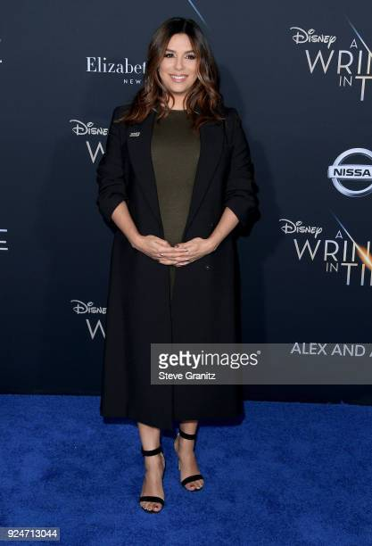 Eva Longoria attends the premiere of Disney's 'A Wrinkle In Time' at the El Capitan Theatre on February 26 2018 in Los Angeles California