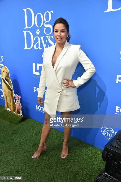 Eva Longoria attends the premiere of LD Entertainment's 'Dog Days' at Westfield Century City on August 5 2018 in Century City California