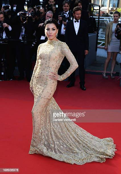 Eva Longoria attends the Premiere of 'Le Passe' during The 66th Annual Cannes Film Festival at Palais des Festivals on May 17 2013 in Cannes France