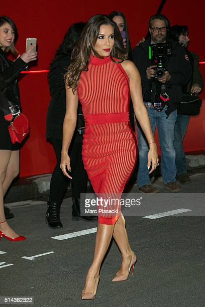 Eva Longoria attends the Red Obsession party to celebrate L'Oreal Paris's partnership with Paris Fashion Week on March 8 2016 in Paris France L'Oreal...