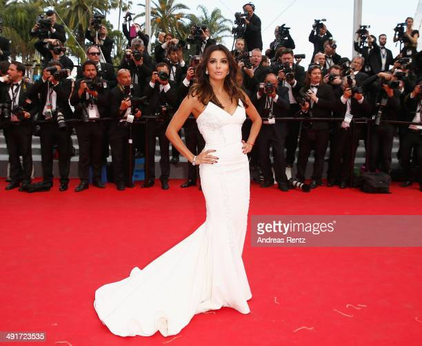 Eva Longoria attends the 'Saint Laurent' premiere during the 67th Annual Cannes Film Festival on May 17 2014 in Cannes France