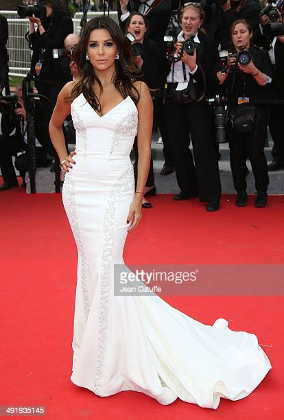 Eva Longoria attends the 'Saint Laurent' premiere during the 67th Annual Cannes Film Festival on May 17, 2014 in Cannes, France.