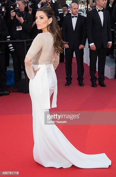 Eva Longoria attends the screening of 'Cafe Society' at the opening gala of the annual 69th Cannes Film Festival at Palais des Festivals on May 11...