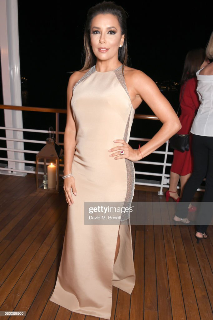 Eva Longoria attends the Vanity Fair and HBO Dinner celebrating the Cannes Film Festival at Hotel du Cap-Eden-Roc on May 20, 2017 in Cap d'Antibes, France.