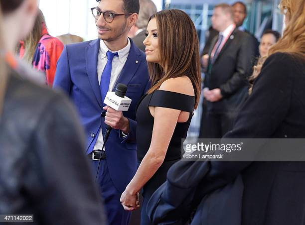 Eva Longoria attends Tribeca Talks/ESPN Sports Film Festival: ¡Go Sebastien Go! during the 2015 Tribeca Film Festival at SVA Theater 1 on April 25,...