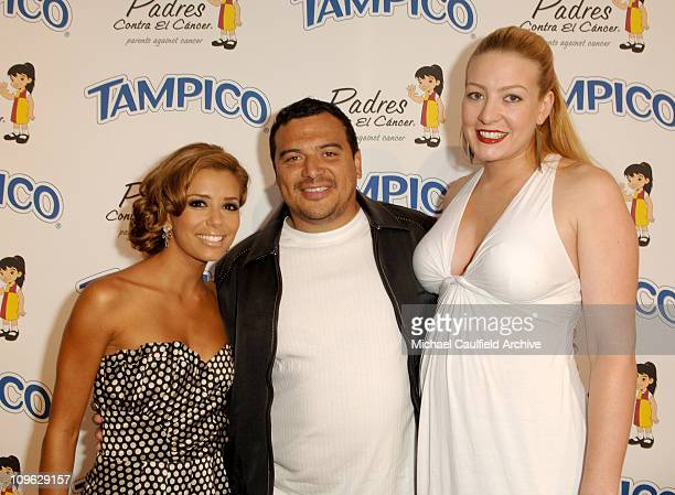 Eva Longoria Carlos Mencia and wife Amy Mencia during Tampico Beverages' El Sueno de Esperanza Gala Benefiting PADRES Contra El Cancer Hosted by Eva...